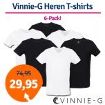 Dagaanbieding Vinnie-G Heren T-shirts 6-pack