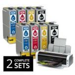 Twee complete sets inktcartridges