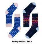 Funny mannen socks per setje van 2!